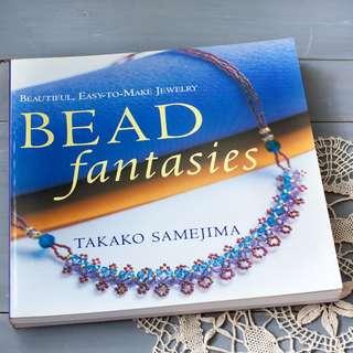BN Japanese Craft Book written in English, Japanese Takako Samejima Beading Craft Book, Jewelry Beading Patterns