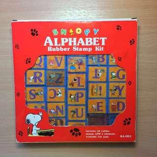 Snoopy alphabet rubber stamp set