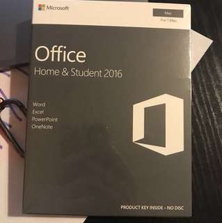 Lifetime Microsoft Office Home & Student 2016 for Mac