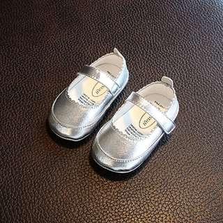 Baby Girl Toddler Silver Shoe