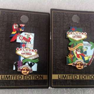 Hard Rock Cafe Pins - LAS VEGAS (ORIGINAL) HOT 2015 LOT OF TWO PINSANITY #11 EVENT PARROT PINS!