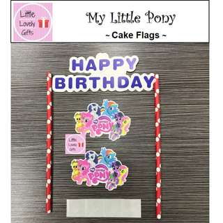My Little Pony Cake Flags