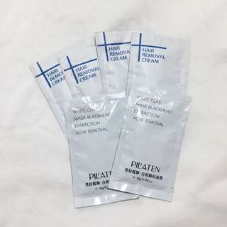 Pilaten Hair Removal (4) & White Clay (2) Bundle