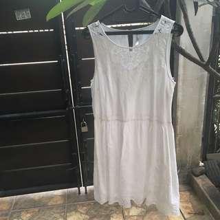 White Dress Semi bordir plus size