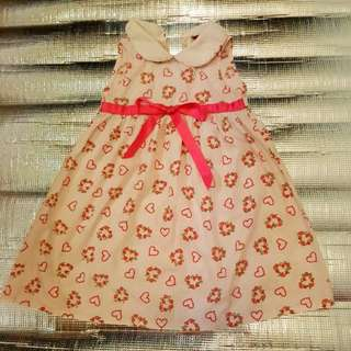 Flower Printed Girl Dress age 5-6