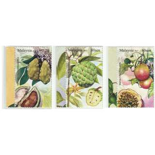 Malaysia 2013 Rare Fruits (Series IV) set of 3V Mint MNH SG #1981-1983