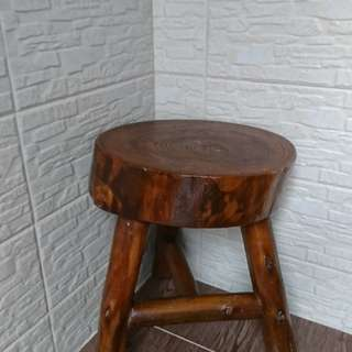 實木圓凳兩張