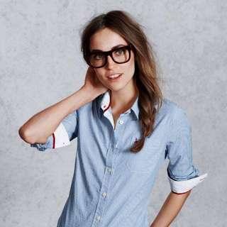 [全新] Jack Wills Highmoor Shirt 藍間恤衫