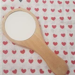 Pocket Wooden Mirror