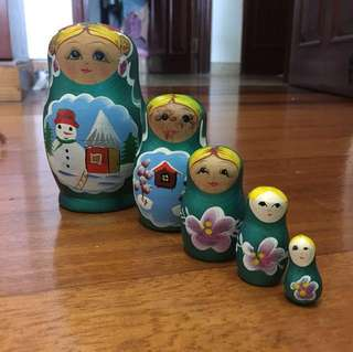 Hand painted Russian Doll Stackable Toy Matryoshka