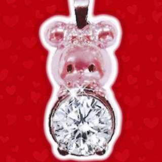 Disney迪士尼鑽石米奇米妮水晶吊墜情侶禮物頸鏈鎖骨鏈
