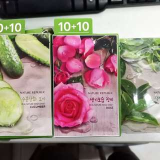 Nature Republic Face Mask (10+10)