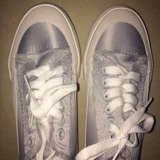 Grey/Blue Keds