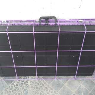 Pet cage color violet