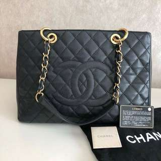 💯Authentic Chanel GST Caviar in Gold Hardware