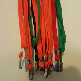 15 Lanyards with clips