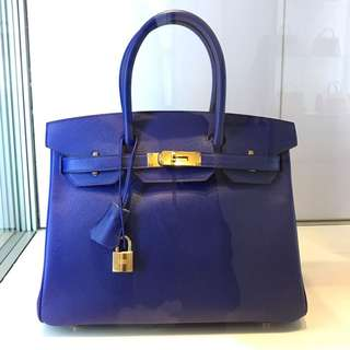 Hermes Birkin 30 Electric Blue Epsom Leather