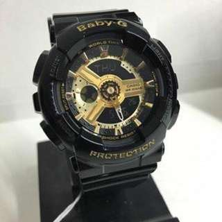 BABYG BLACK GOLD GLOSSY WATCH