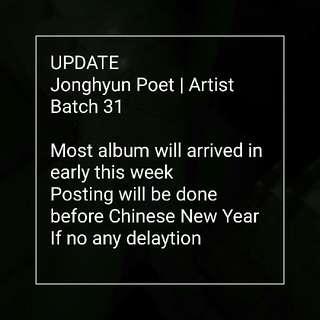 UPDATE for Jonghyun Poet artist