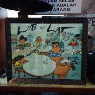 Lukisan kartun lat siap frame