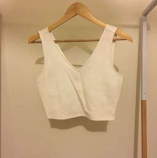 Bardot white crop