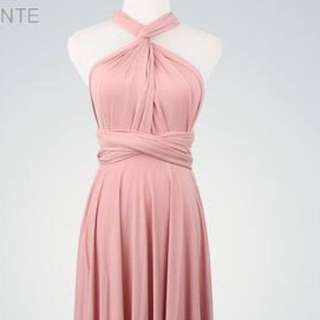 Nude pink infinity dress gown
