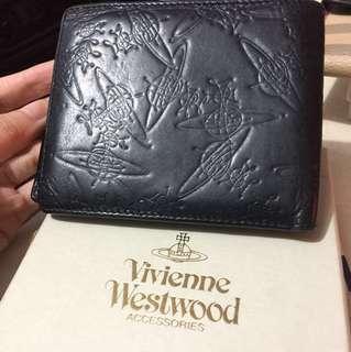 🈹(減價$500)Vivienne Westwood 黑色真皮銀包(連盒)
