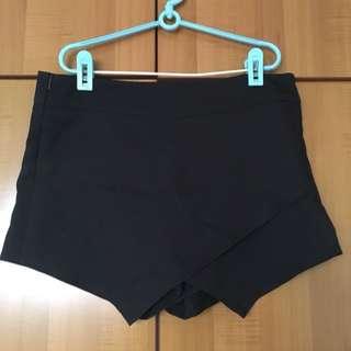 Black Skorts With Zip