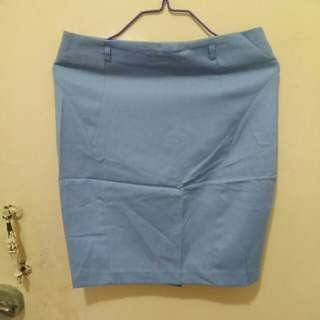 [韓國製造]粉藍色半身裙 Women skirt