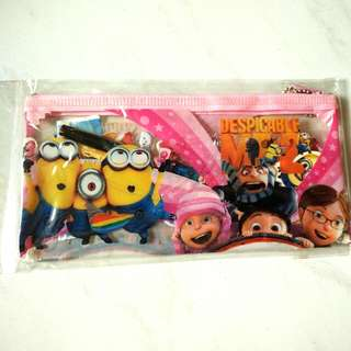 Despicable Me 2 Pink Pencil Case with 2 Pencils, Eraser & Stickers