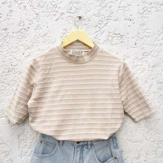 Vintage Striped Semi Turtleneck