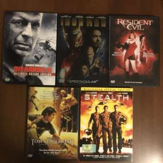 Movie DVDs - Various Titles