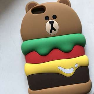 Line friends brown 電話殻 iphone 6