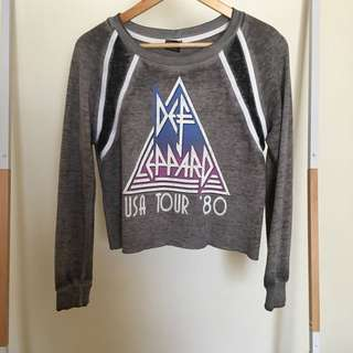 Cropped jumper def leppard