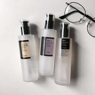 [DECANTS] COSRX AHA 7 Whitehead Power Liquid // BHA Blackhead Power Liquid // Advanced Snail 96 Mucin Power Essence