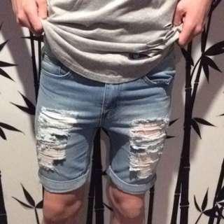 Boohoo.com denim shorts