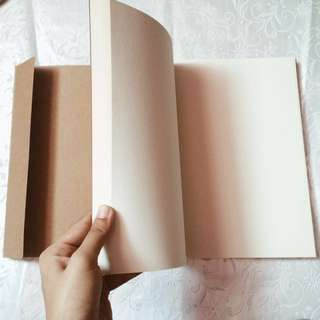 Blank Notebook or Sketchbook (Kraft paper cover)