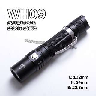 (Clearance) WH09 CREE XP-L2 V6 (2017) 1020lm 18650 Flashlight