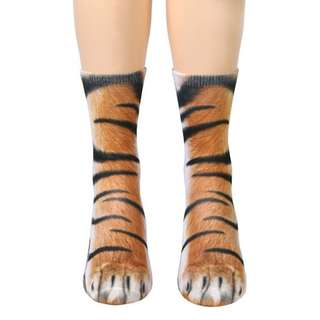 Animal Paw Socks - Tiger Design Free Delivery