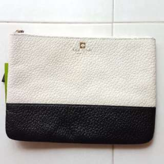 Kate Spade Leather Pouch - Monochrome