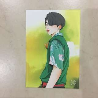 xiumin fanart postcard