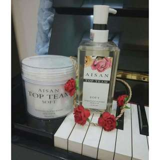 AISAN TOP TEAM Pure Flower Extract Shampoo + Revitalizing Hair Mask