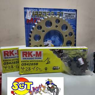 RK-M Gold 428 Chain With Gold MCS Sprockets