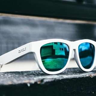 Zungle White (Bone Conduction Sunglasses)