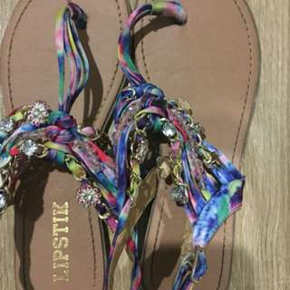 Lipstick Charm Rainbow Sandals