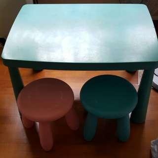 Study Table & Stools