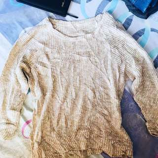 Nude Knitted Pullover long sleeve / Sweater Bershka Inspired