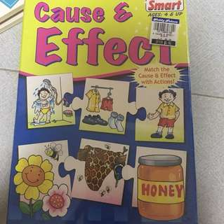 Cause and effect self correcting puzzles