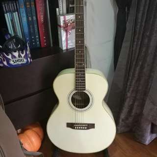 Swinf Rose M White Acoustic Guitar