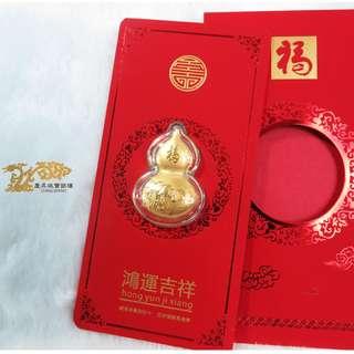 黃金紅包|福氣平安|純金紅包袋。慶昇珠寶銀樓
